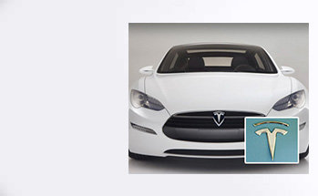 Tesla Motors Logo Sticker - Case Show