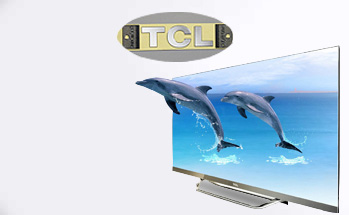 case show - TCL TV logo sticker